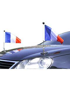 Couple  Porte-drapeau de voiture Diplomat-1.30 France à adhésion magnétique