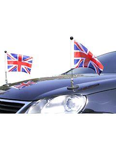 Pair  Magnetic Car Flag Pole Diplomat-1 Great Britain