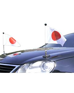 Pair  Magnetic Car Flag Pole Diplomat-1 Japan