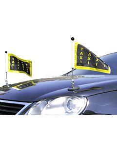 Paar  magnetisch haftender Autofahnen-Ständer Diplomat-1 mit individuell bedruckter Fahne