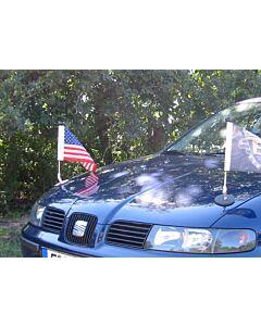 Soporte de bandera para coches con sujeción magnética Diplomat-1 EE.UU.