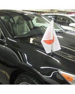 Autoflaggen-Ständer Diplomat-Z-Chrome