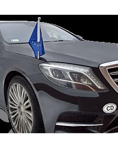 Soporte de bandera para coche Diplomat-Z-Chrome-MB-W222  para Mercedes-Benz Clase-S W222 (2013-)