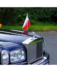 Car Flag Pole Diplomat-Z-Chrome-PRO Poland