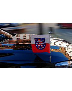 Soporte de bandera para coche Diplomat-Z-Chrome-Pro-BMW-7-G11