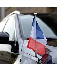 Car Flag Pole Diplomat-Z-Chrome-PRO France
