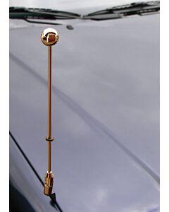Autoflaggen-Ständer Diplomat-Z-Gold