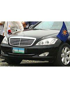 Pair  Original Mercedes-Benz Car Flag for Mercedes-Benz executive luxury car